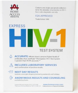 home access express hiv at home STD test kit