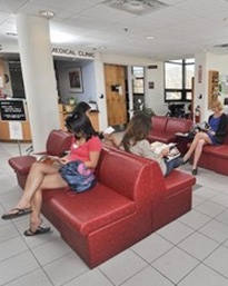 FREE STD TEst clinic waiting room