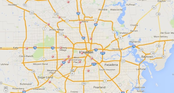 STD Test Centers on a map - Houston