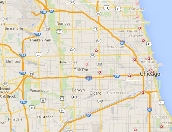 STD Test options - Chicago IL map