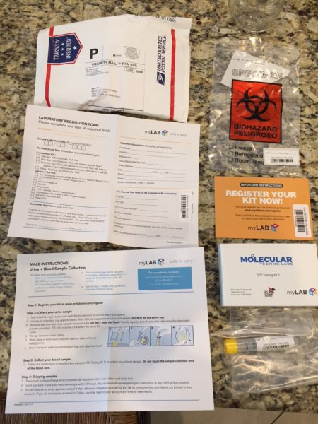 MyLabBox STD Test Review - full kit