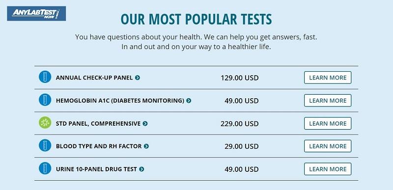 Any Lab Test Now STD Test